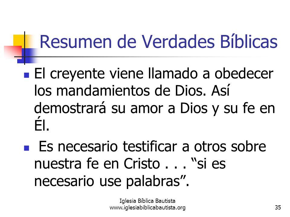 Resumen de Verdades Bíblicas
