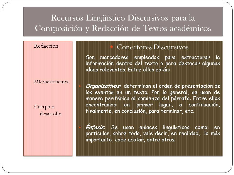 Conectores Discursivos