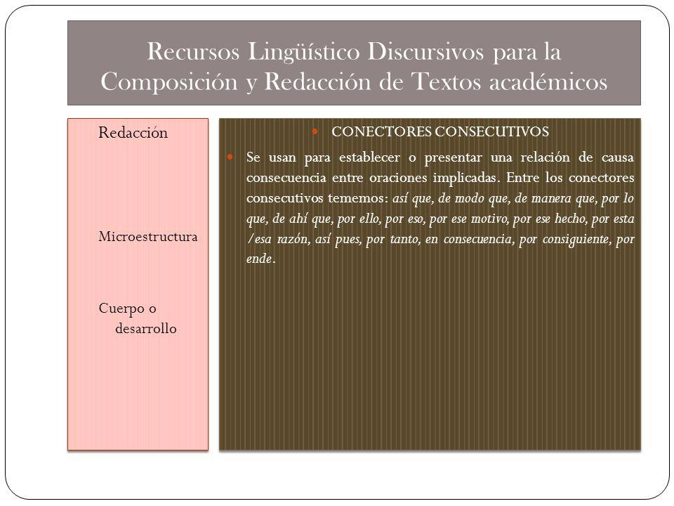 CONECTORES CONSECUTIVOS