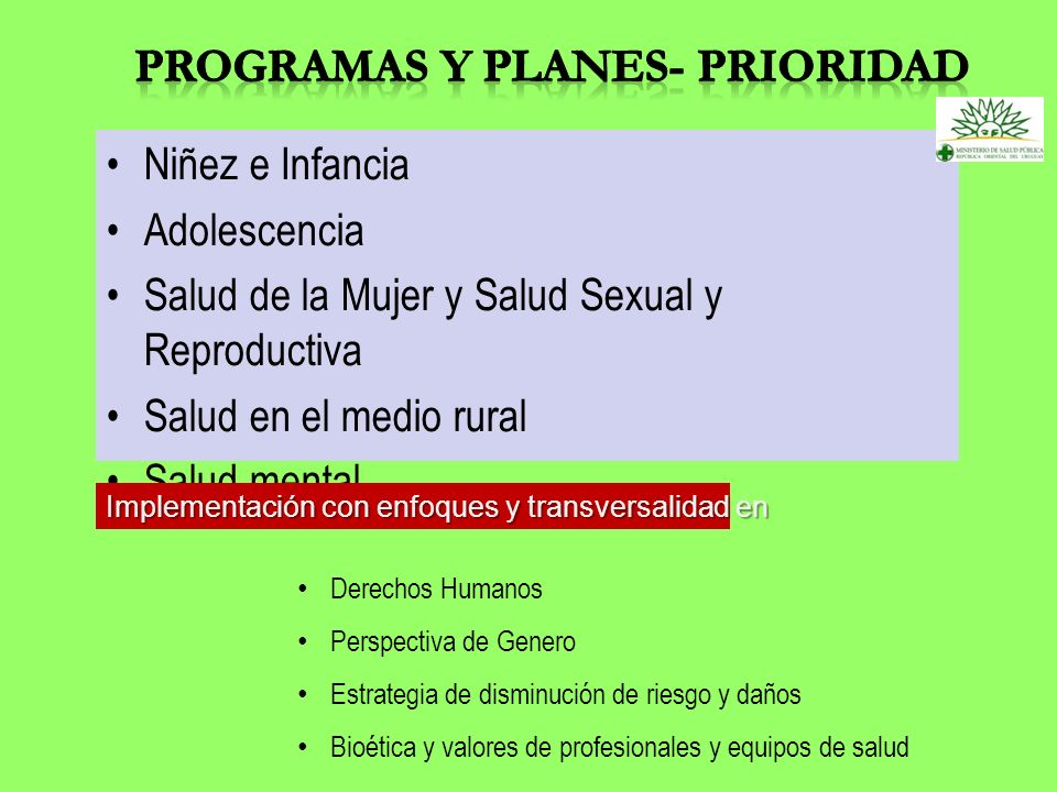 Programas y Planes- Prioridad