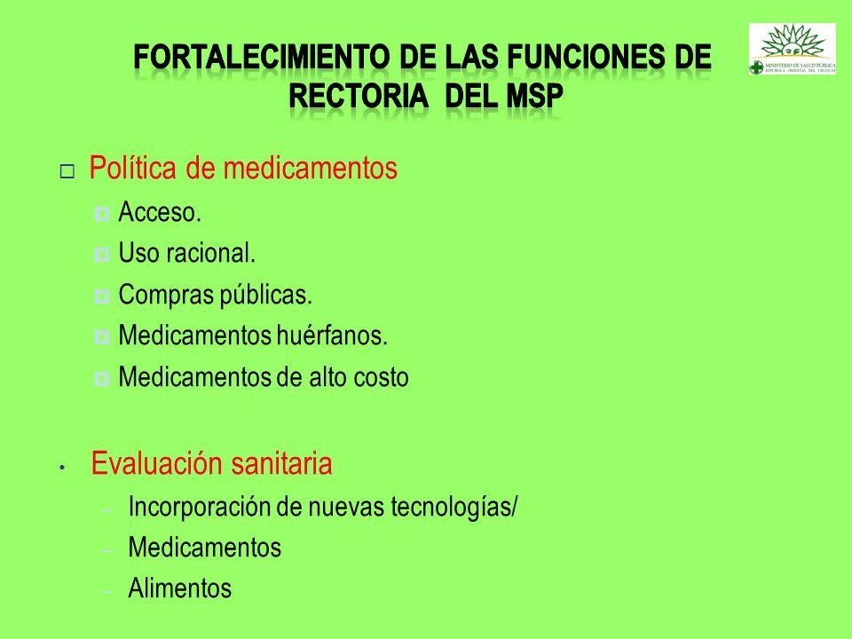Fortalecimiento de las funciones de rectoria del msp