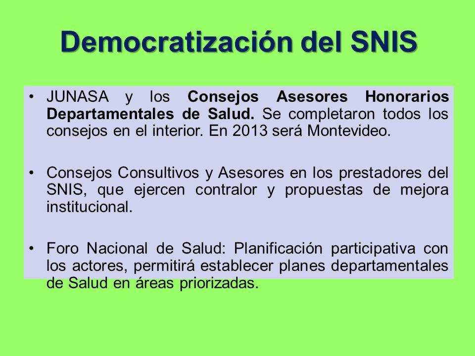 Democratización del SNIS
