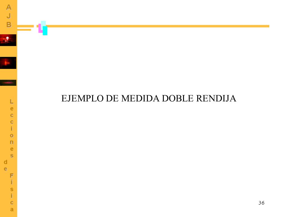 EJEMPLO DE MEDIDA DOBLE RENDIJA