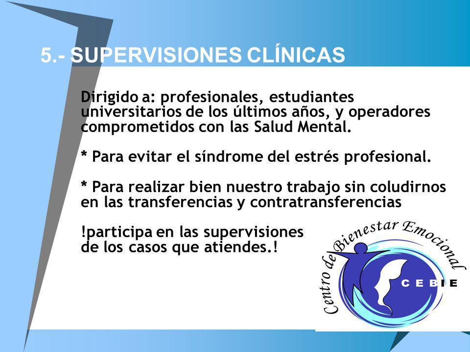 5.- SUPERVISIONES CLÍNICAS