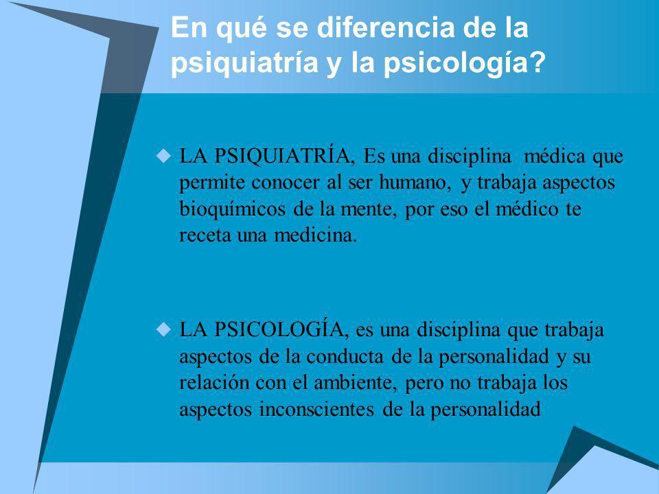 En qué se diferencia de la psiquiatría y la psicología