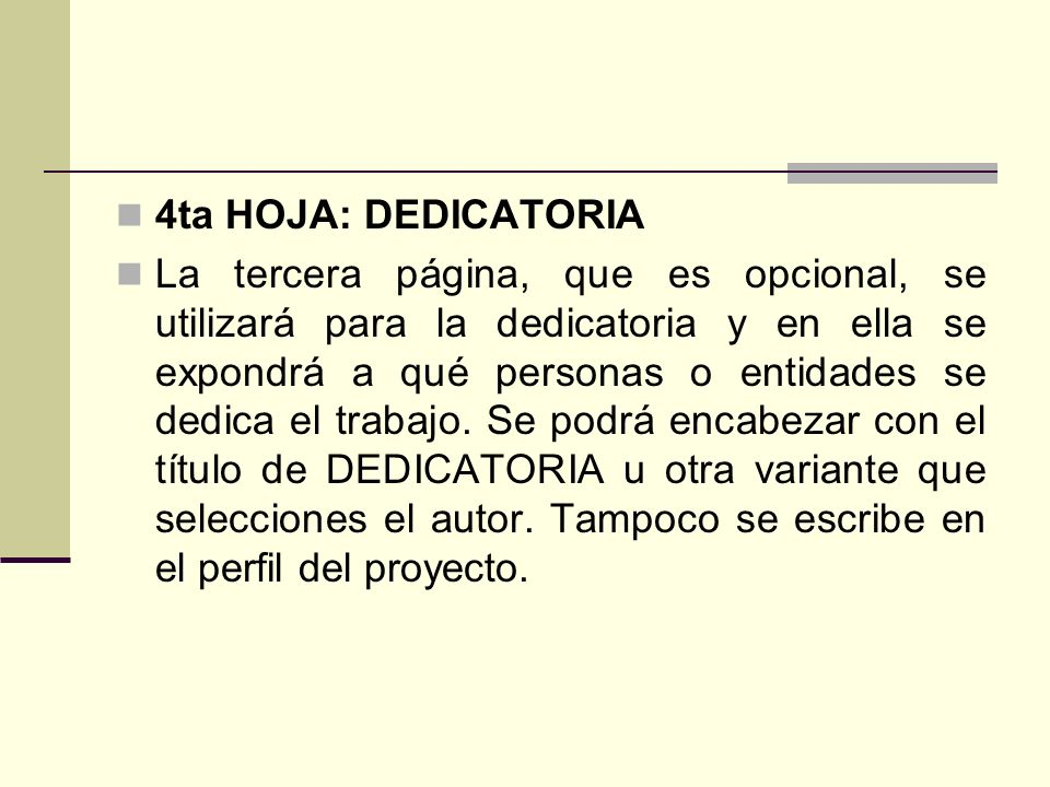 4ta HOJA: DEDICATORIA