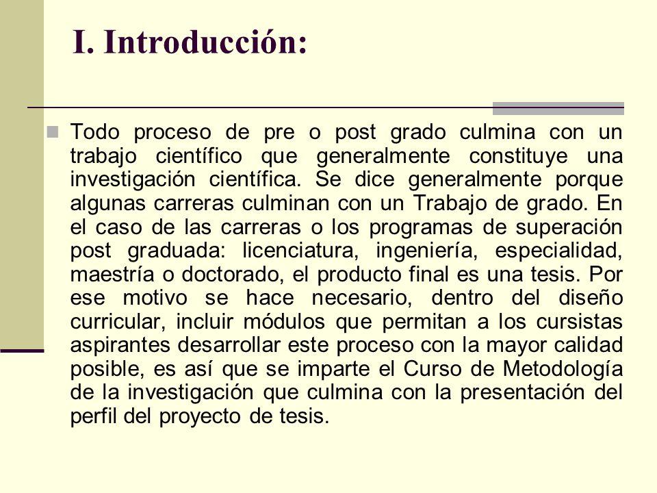 I. Introducción: