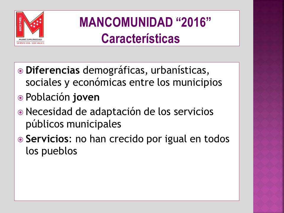 MANCOMUNIDAD 2016 Características