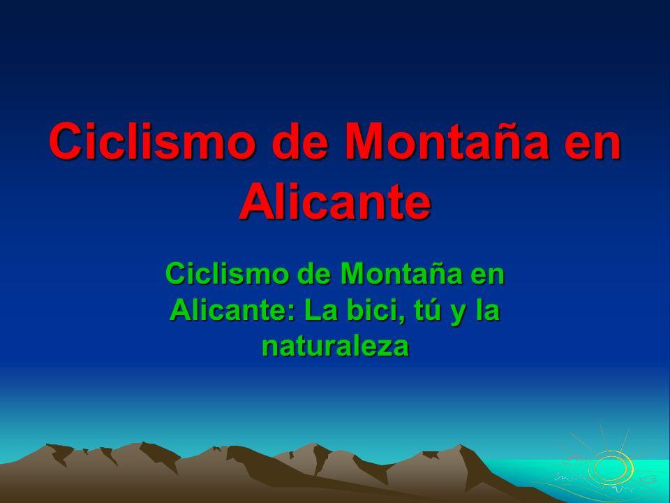 Ciclismo de Montaña en Alicante
