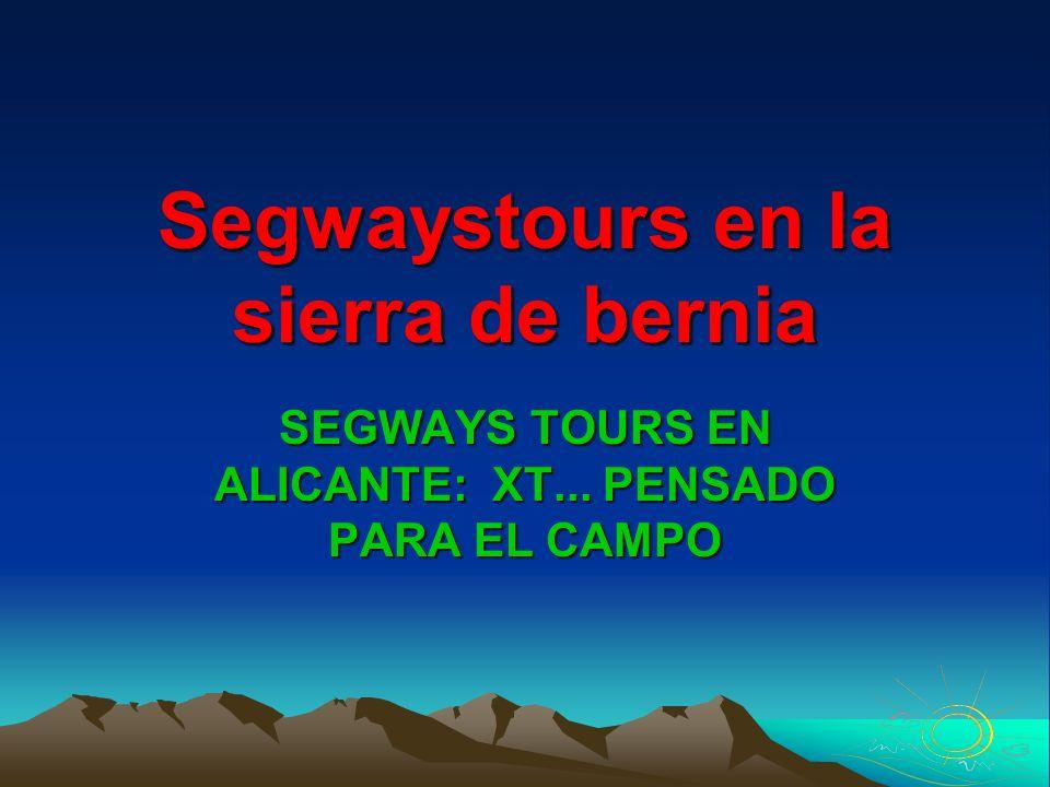 Segwaystours en la sierra de bernia