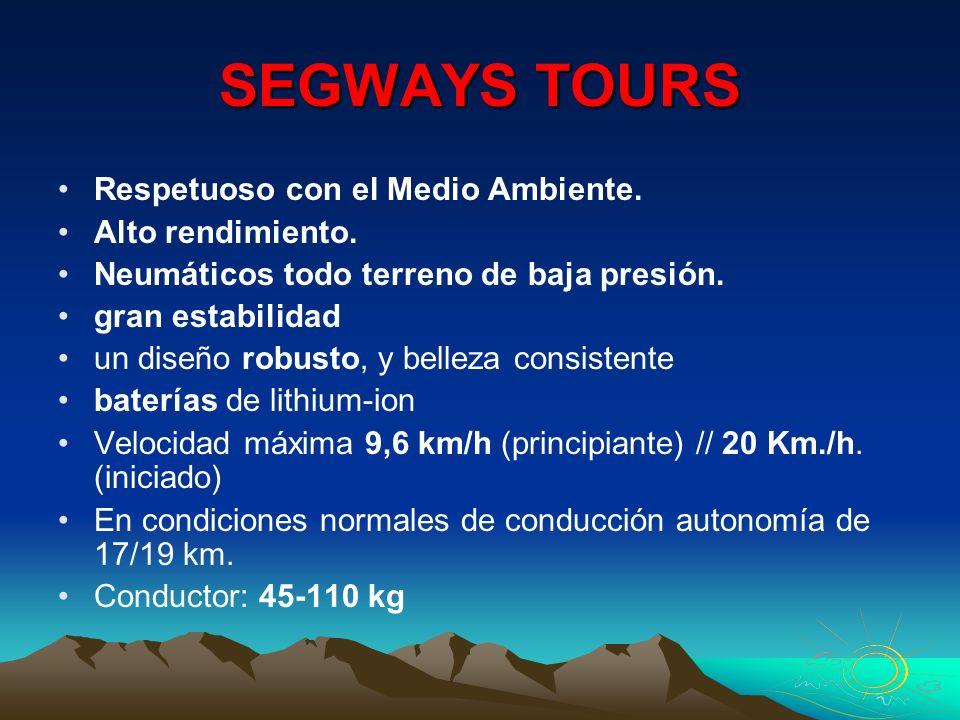 SEGWAYS TOURS Respetuoso con el Medio Ambiente. Alto rendimiento.
