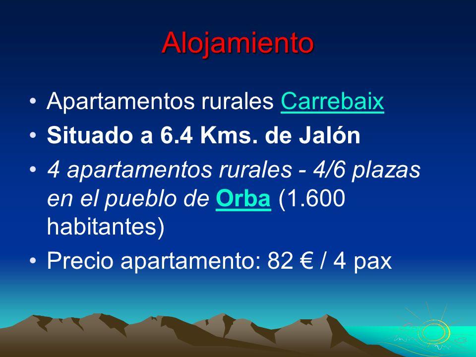 Alojamiento Apartamentos rurales Carrebaix Situado a 6.4 Kms. de Jalón