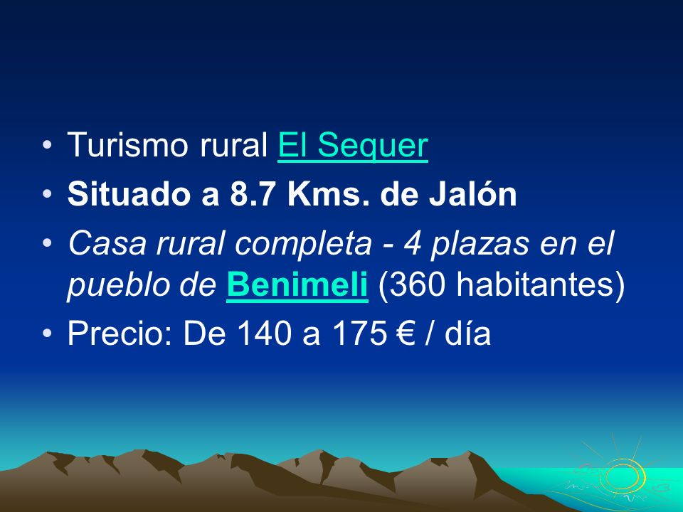 Turismo rural El Sequer