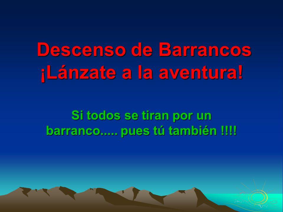 Descenso de Barrancos ¡Lánzate a la aventura!