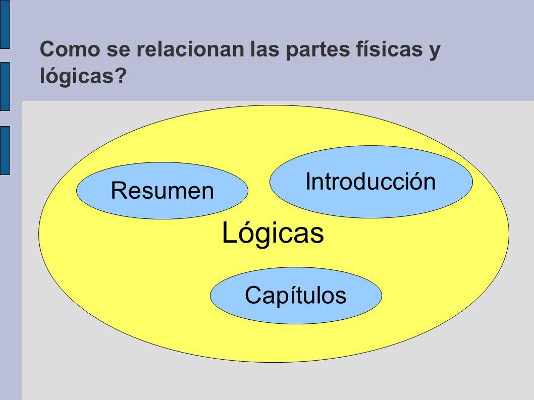 Como se relacionan las partes físicas y lógicas