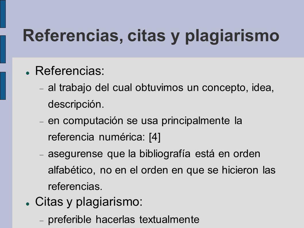 Referencias, citas y plagiarismo