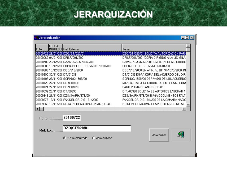 JERARQUIZACIÓN