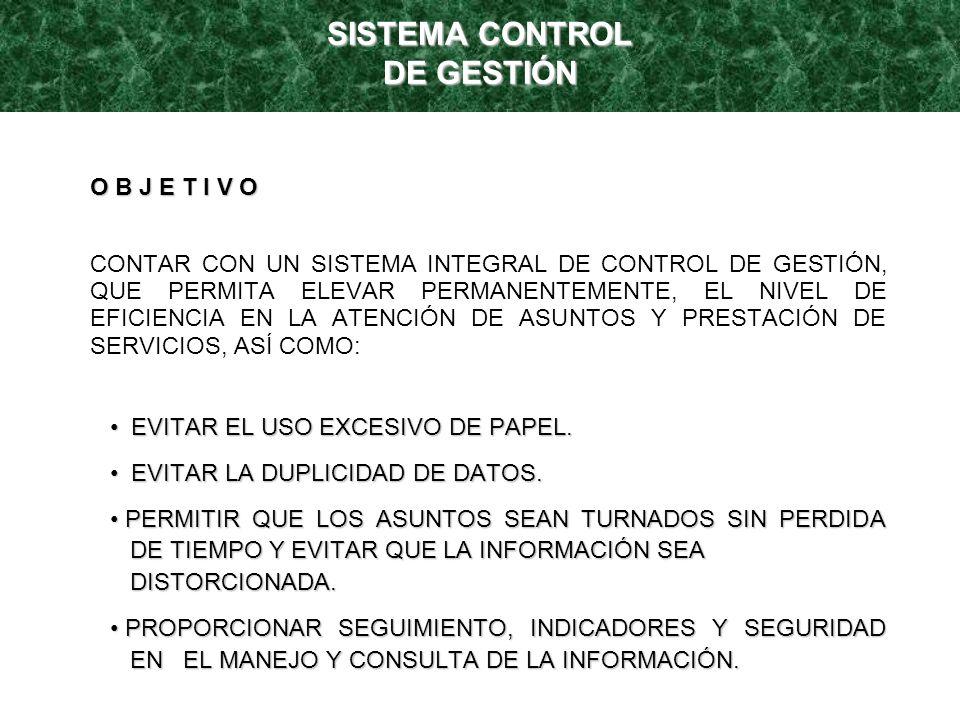 SISTEMA CONTROL DE GESTIÓN