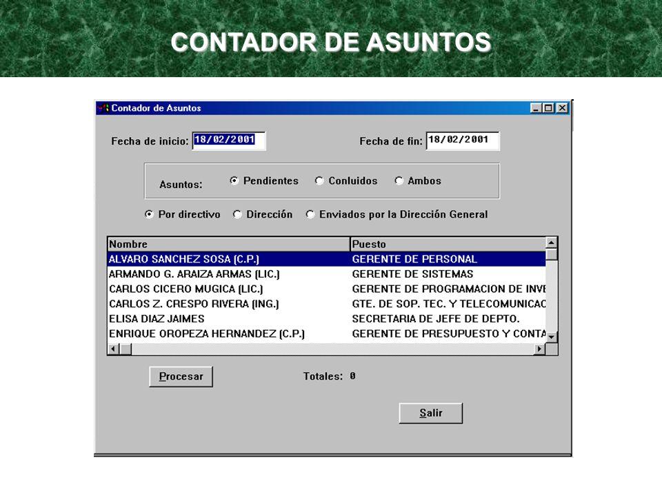 CONTADOR DE ASUNTOS