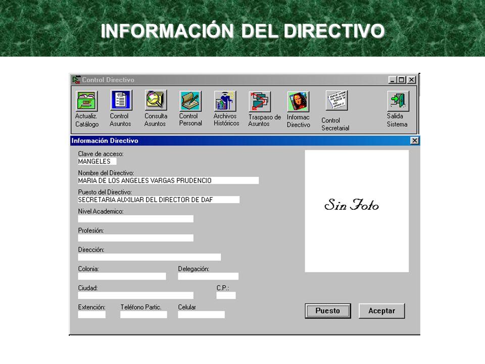 INFORMACIÓN DEL DIRECTIVO