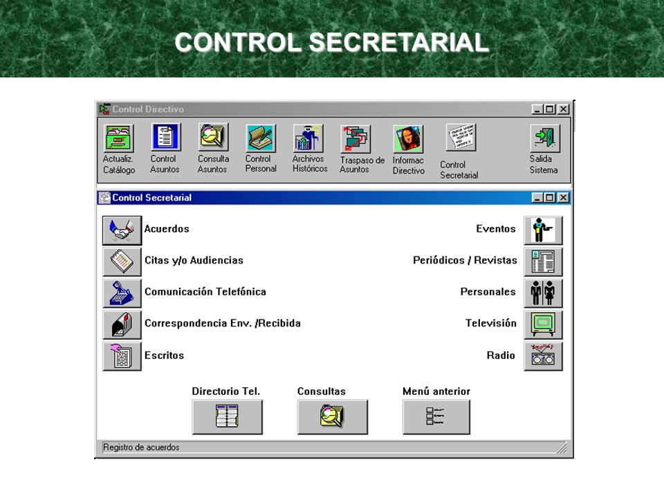 CONTROL SECRETARIAL