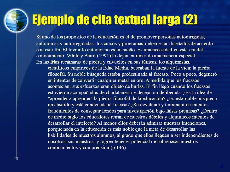 Ejemplo de cita textual larga (2)