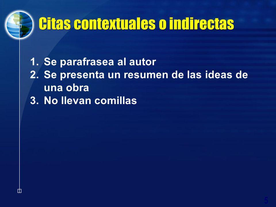 Citas contextuales o indirectas