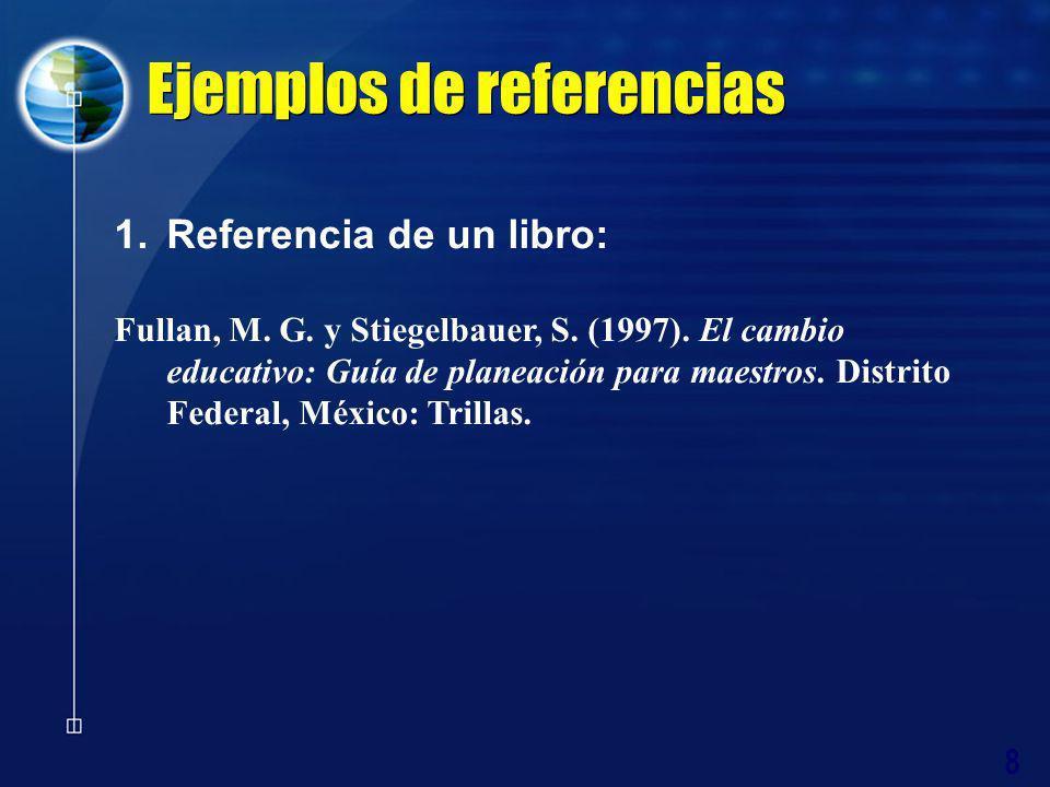 Ejemplos de referencias