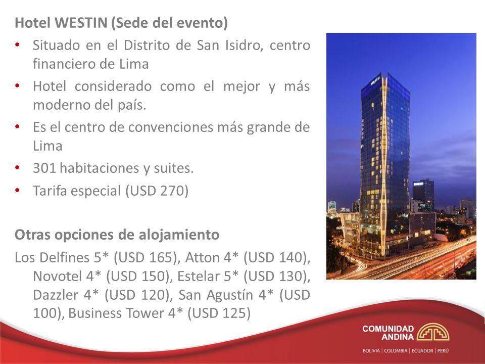 Hotel WESTIN (Sede del evento)
