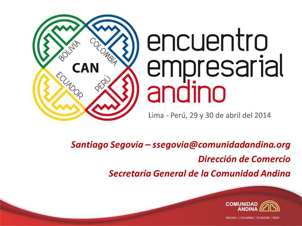 Santiago Segovia – ssegovia@comunidadandina.org