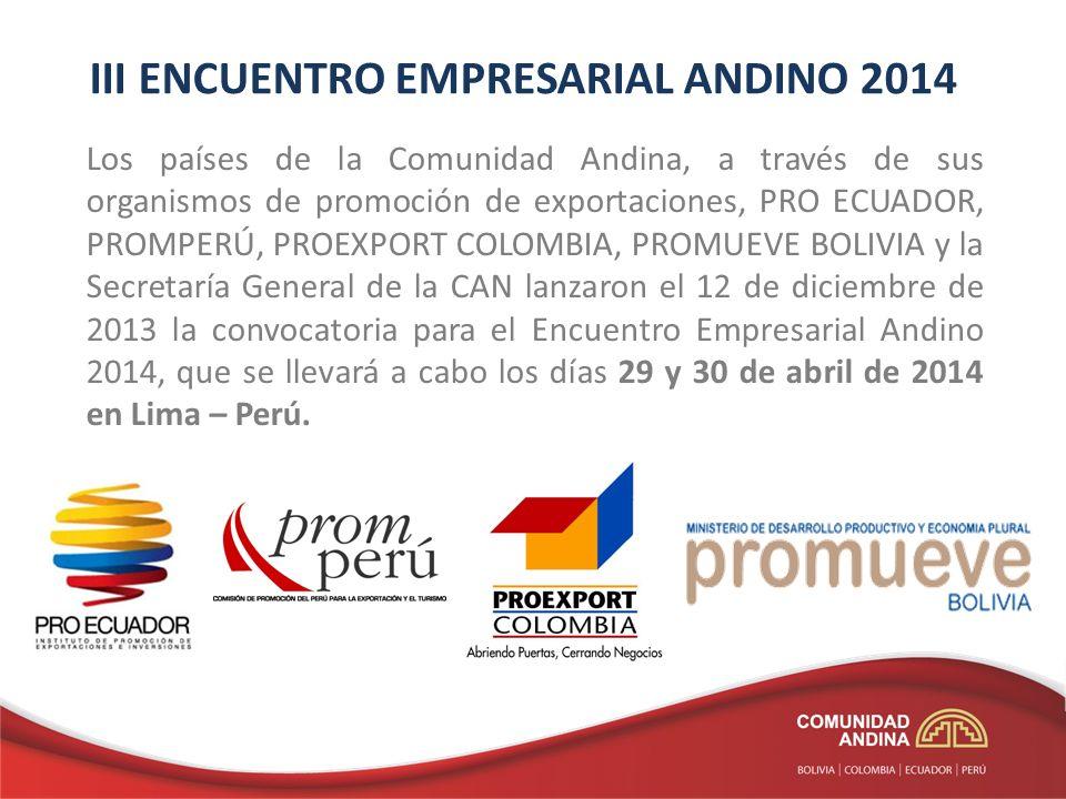 III ENCUENTRO EMPRESARIAL ANDINO 2014