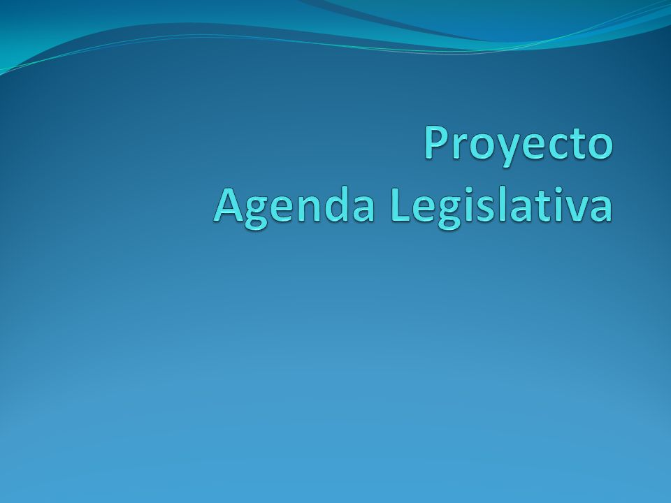 Proyecto Agenda Legislativa