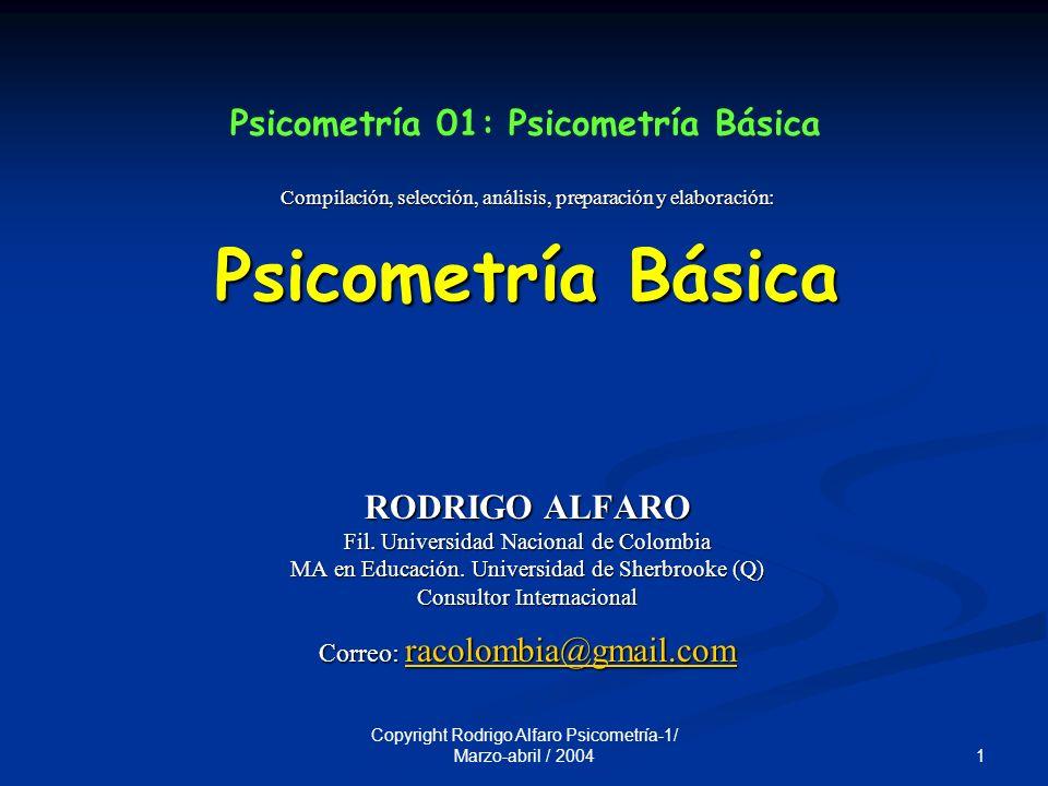 Psicometría 01: Psicometría Básica