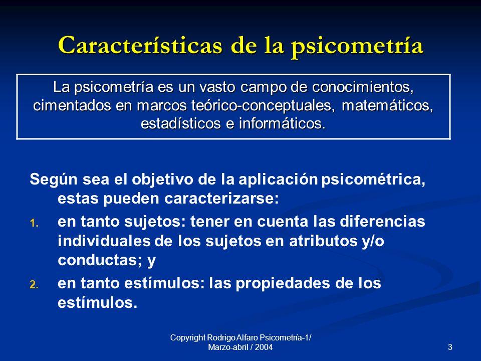 Características de la psicometría