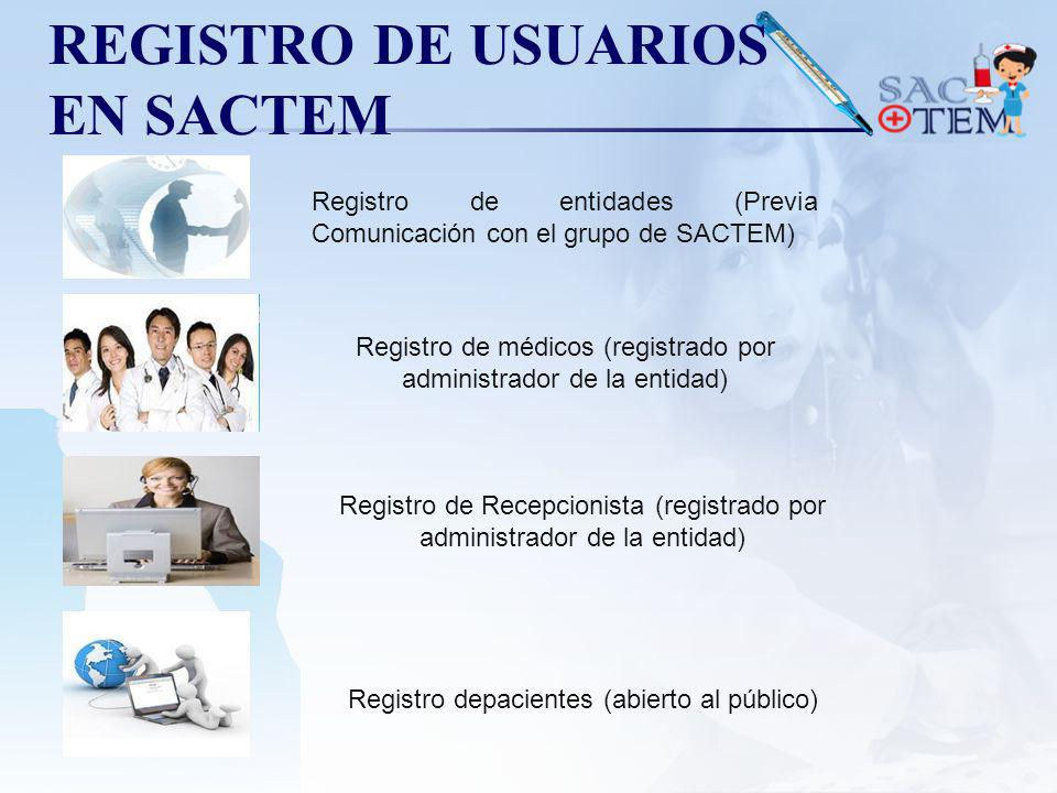 REGISTRO DE USUARIOS EN SACTEM