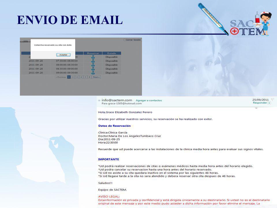 ENVIO DE EMAIL
