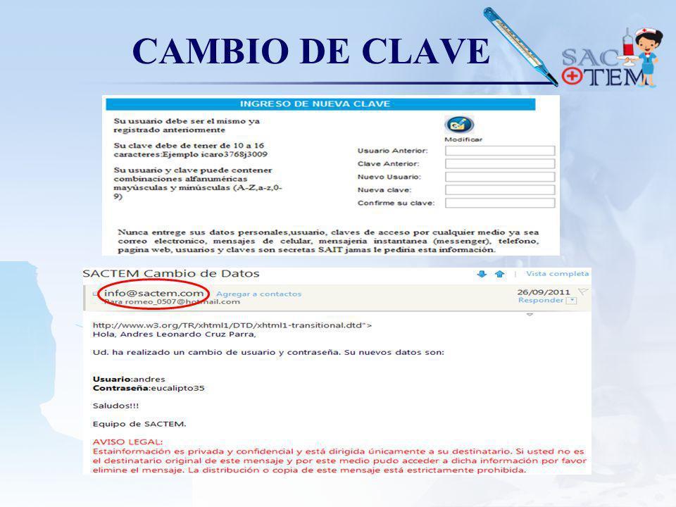 CAMBIO DE CLAVE