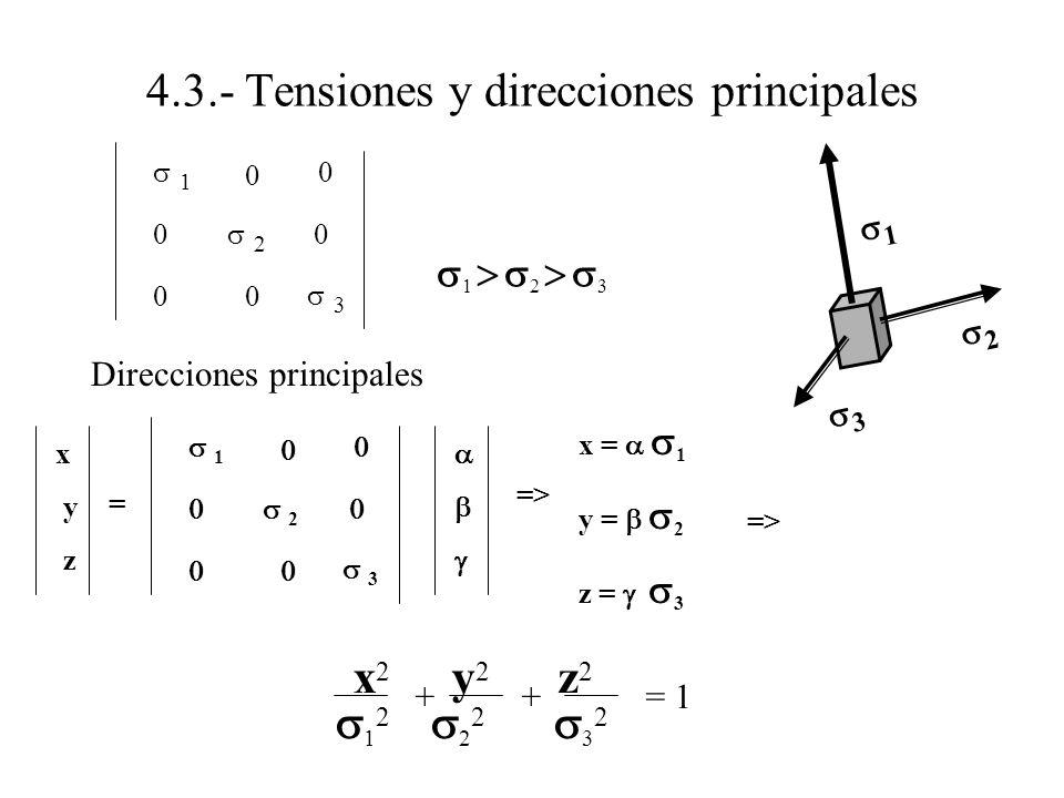 4.3.- Tensiones y direcciones principales