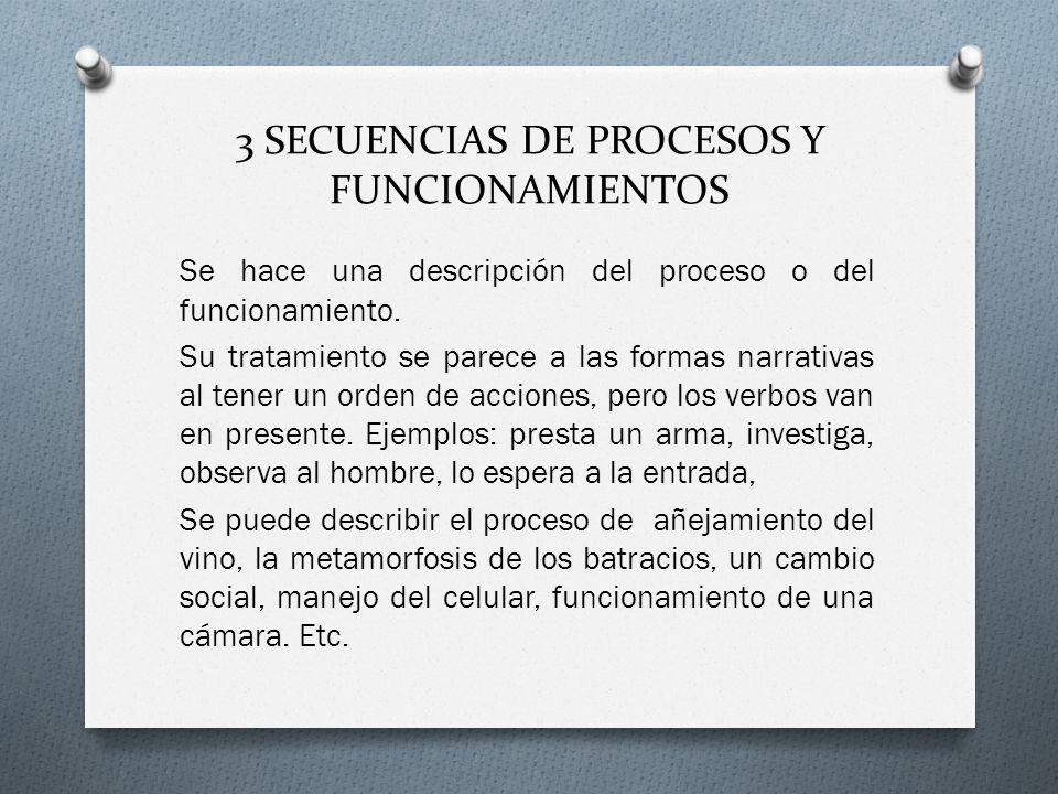 3 SECUENCIAS DE PROCESOS Y FUNCIONAMIENTOS