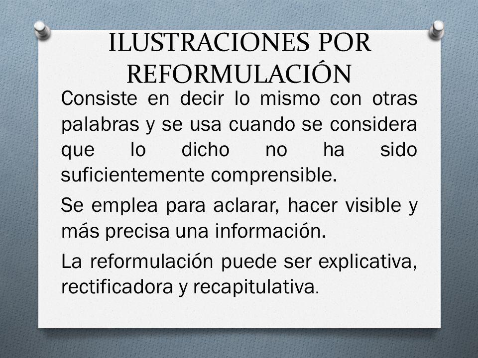 ILUSTRACIONES POR REFORMULACIÓN