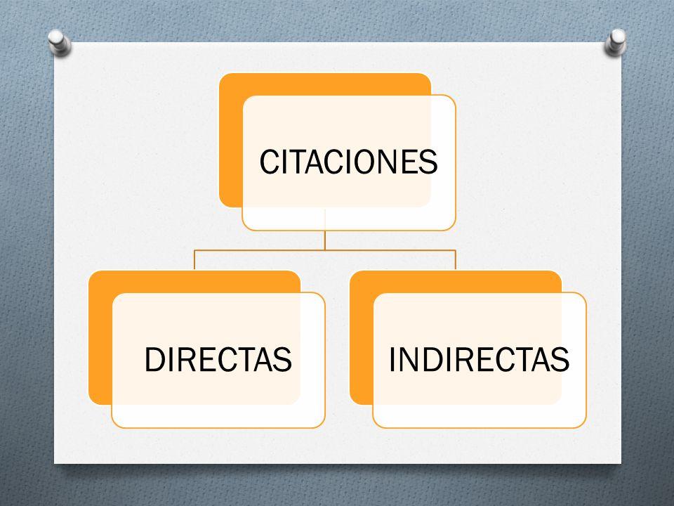 CITACIONES DIRECTAS INDIRECTAS