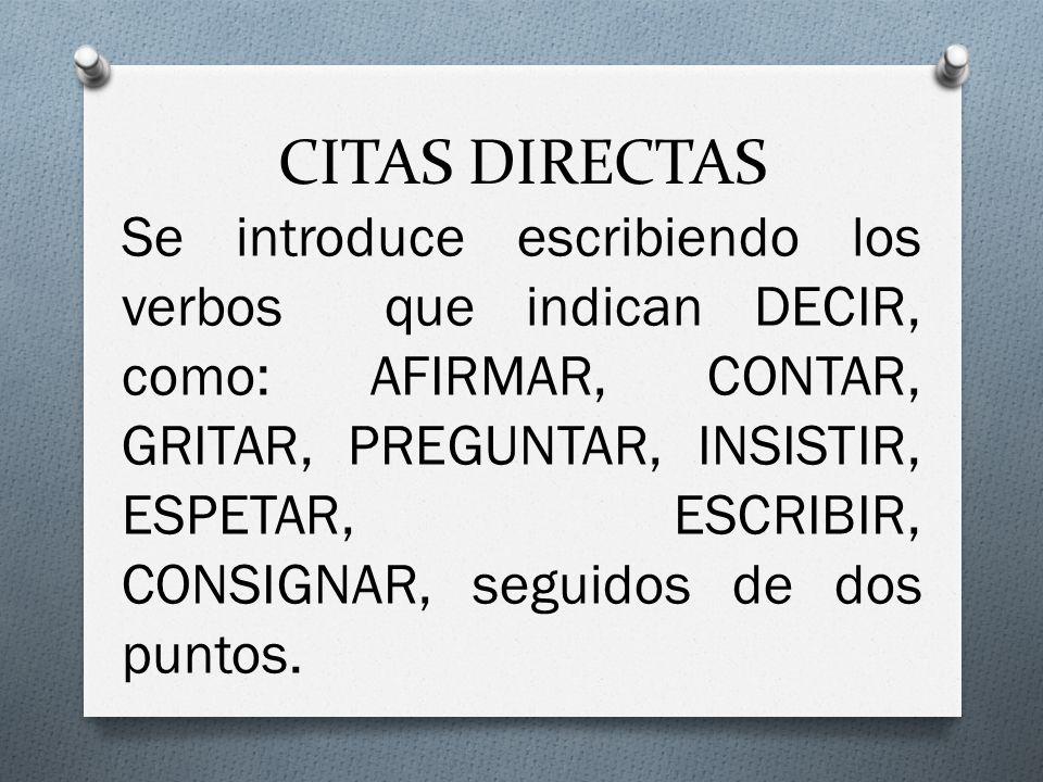 CITAS DIRECTAS