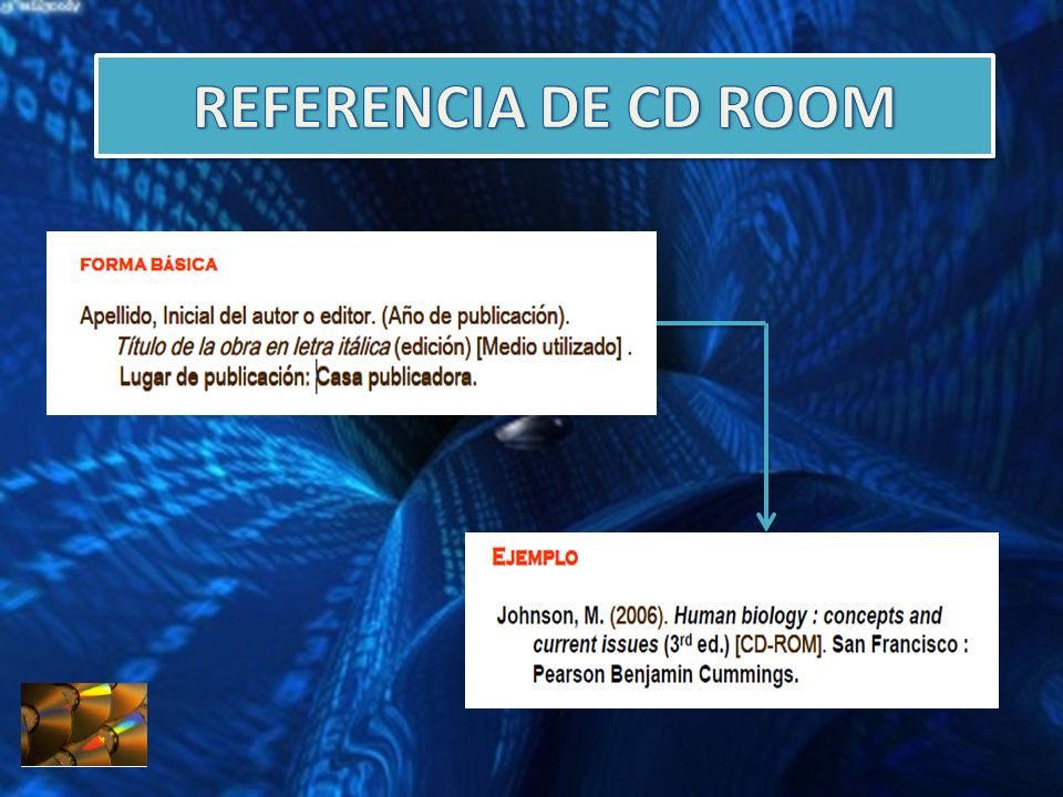 REFERENCIA DE CD ROOM