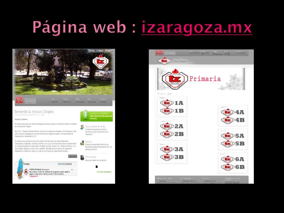 Página web : izaragoza.mx