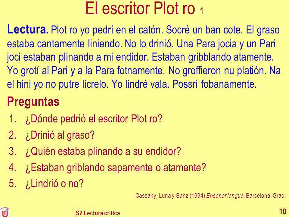 El escritor Plot ro 1