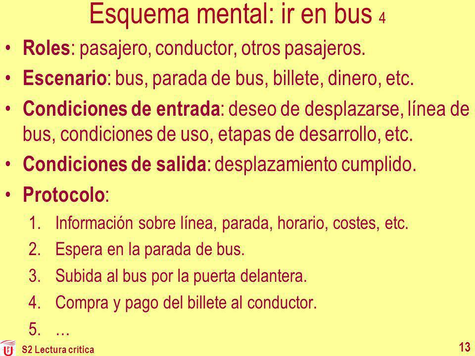 Esquema mental: ir en bus 4