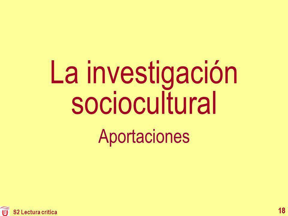La investigación sociocultural
