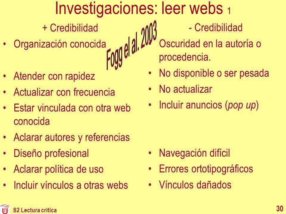 Investigaciones: leer webs 1