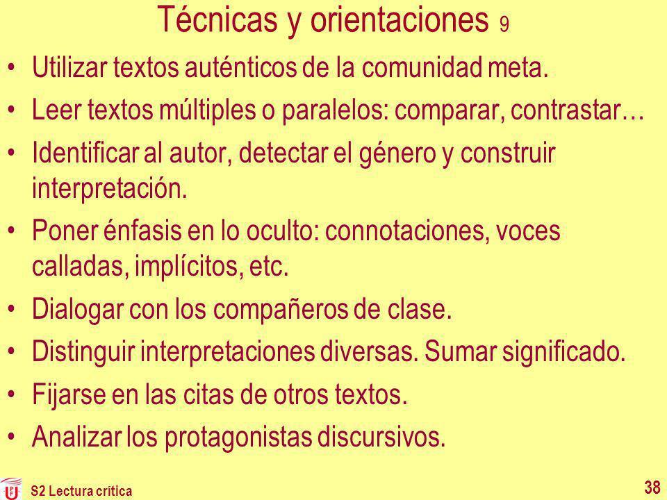 Técnicas y orientaciones 9
