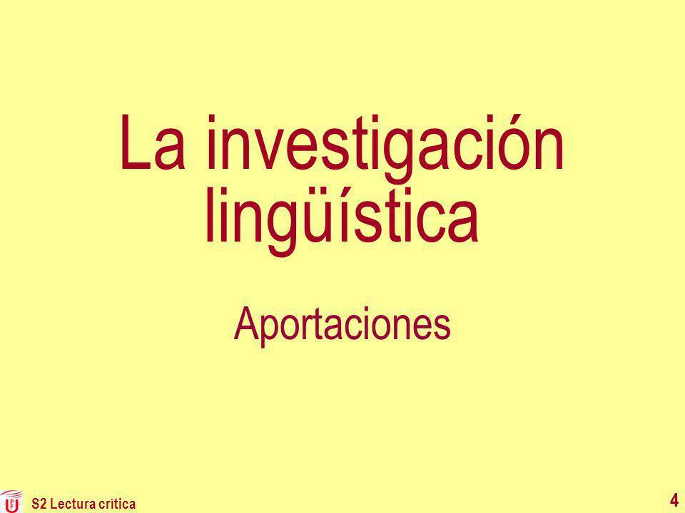 La investigación lingüística